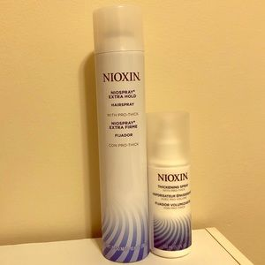 Nioxin Accessories - Nioxin hairspray and thickening spray